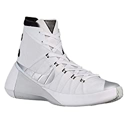 Nike Mens Hyperdunk 2015 Tb Whitemetallic Silver-black-white Size 12