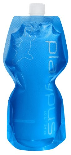 Platypus Ultralight Collapsible SoftBottle with Closure Cap, Blue, 1.0-Liter