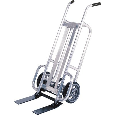 Valley Craft F84753A8 EZY-Tilt Aluminum Pallet Truck with 2 Solid Wheels, 14-1/2'' Width x 48'' Height x 13-3/4'' Depth by Valley Craft