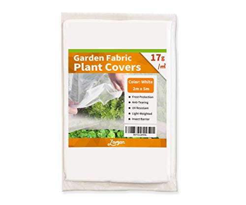 LAVZAN Winter Plant Protection Cover Frost Protection Cover for Plants Plant Blanket,17g/㎡,White,(6.5′ x 16')