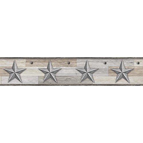 York Wallcoverings Pallet Star Border, Silver
