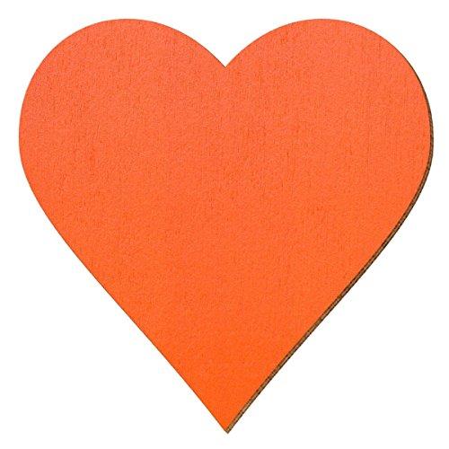 Bütic GmbH Contreplaqué découpée Orange–Coeur–Taille au choix, Herz 26cm x 26cm