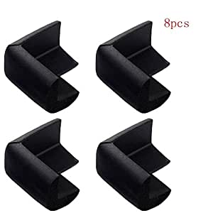 8pcs Black Baby Furniture Corner Safety Bumper Corner Protector Guard Cushion