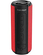 Bluetooth Speaker 5.0, Tronsmart T6 Plus 40W Portable Outdoor Wireless Speaker With Tri-Bass Effects, 6600mAh Powerbank, IPX6 Waterproof, 15 Hrs Playtime, TWS, Voice Assistant and handsfree call -Red