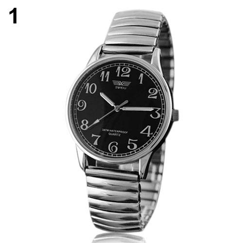 Watches for Men Women Fashion Casual Watches & Men's Women's Couple Lover Elastic Alloy Quartz Analog Wrist Watch Fashion Gift