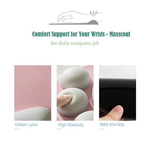 OMDD Cat Paw Mouse Pad with Wrist Support, 3D Cartoon Mouse Wrist Pad Soft Silicone Wrist Rests Mouse Pad Comfort Ergonomic Computer Mouse Pads Mat for Office Computer Gaming by OneMoreDealDirect (Image #4)
