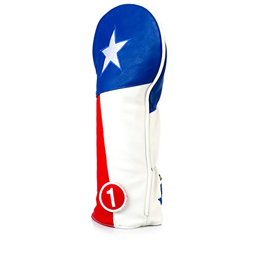 - Pins & Aces Golf Co.. Texas Tribute Premium Driver Headcover - Quality Leather, Hand-Made 1 Wood Head Cover - Style and Customize Your Golf Bag - Tour Inspired, Texas Lone Star Design