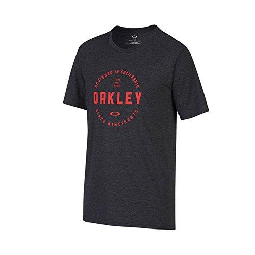 Oakley T-Shirt Tri-Double Rounds Schwarzout Lt Htr