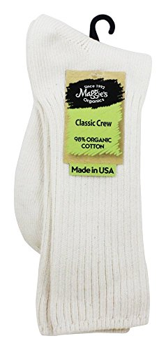 Maggie's Organics - Organic Cotton Crew Classic Socks - Real Fair Trade (Natural, 10-13)