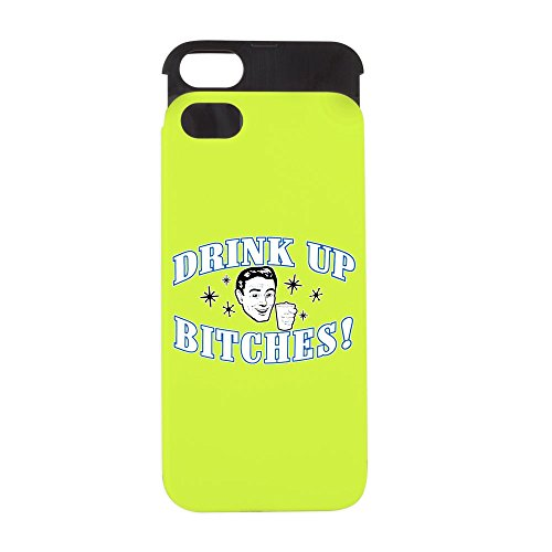 iPhone 5 or 5S Wallet Case Lime and Black Beer Drink Up Bitches (Coors Case Light)