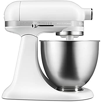 Genial KitchenAid KSM3311XFW Artisan Mini Series Tilt Head Stand Mixer, 3.5 Quart,  Matte White