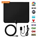 Paper Thin HD Indoor TV Antenna - Support 1080P/4K TV Channel Reception Up to 50 Mile Range,Digital Antenna with Signal Amplifier Booster Receiver,HDTV Ultra Thin Antennas with 10ft Coaxial Cable BB01