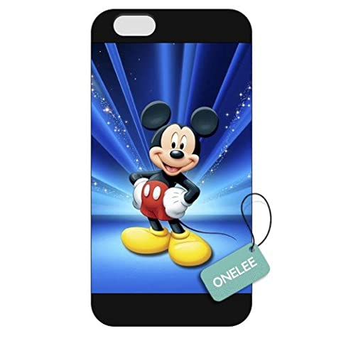 Onelee - Customized Disney Mickey Mouse Apple iPhone 6 Frosted Case Cover - Black 08 (S3 Cases Mickey Mouse)