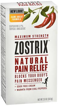 Zostrix Natural Pain Relief Cream Maximum Strength, 2 oz, Pack of 2