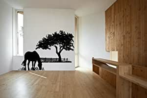 Horse Grazing Vinyl Wall Decal Sticker Graphic By LKS Trading Post