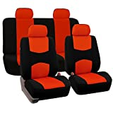 2004 4runner dash cover black - FH GROUP FH-FB050114 Full Set Flat Cloth Car Seat Covers, Tangerine / Black- Fit Most Car, Truck, Suv, or Van