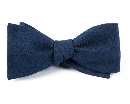 The Tie Bar Astute Solid Wool Blend Navy Self-Tie Bow Tie ()