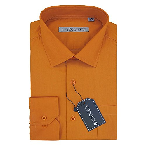 (Luxton Cotton Poly Shirt Collection Regular Fit (Rust 12,XXX-Large/Neck:19-19 1/2, Sleeve:34/35))