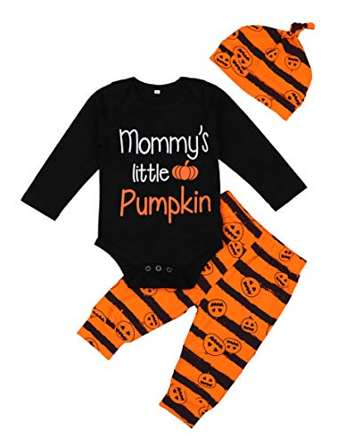 Baby Boy Girl Halloween Outfit First Halloween Costumes Onesie with Hat Clothes Set 3-6 Months