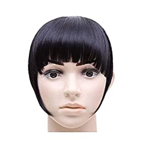 1pcs Synthetic Hair Clip In Front Fringe Bang Hairpiece Straight Hair Extensions