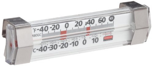Rubbermaid Commercial FGR80GC Stainless Steel Refrigerator/Freezer Monitoring Thermometer, -40 to 80 Degrees