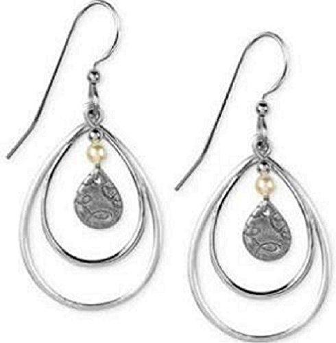 Silver Forest Silvertone Teardrop Dangle Earrings