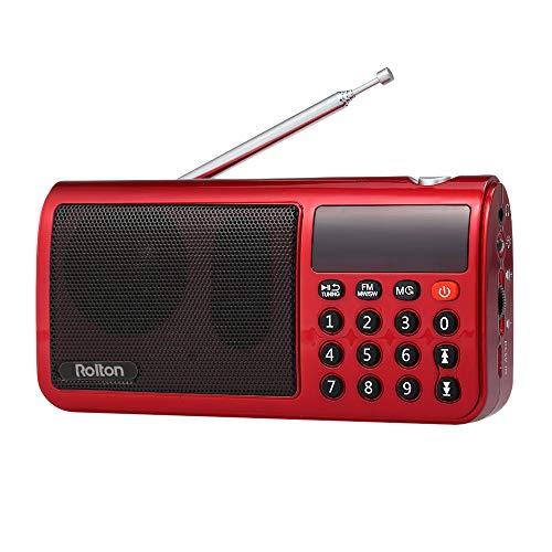 [해외]KKmoon Rolton T50 FM + MW + SW 3 밴드 디지털 라디오 휴대용 USB 유선 컴퓨터 스피커 HiFi 스테레오 수신기 (손전등) LED 디스플레이 지원 TF 뮤직 플레이 / KKmoon Rolton T50 FM + MW + SW 3 Band Digital Radio Portable USB Wired Computer Sp...