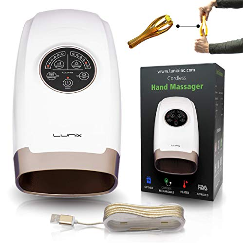 Lunix Cordless Electric Hand Massager with