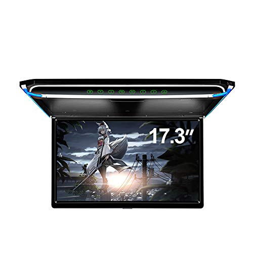 "17.3"" Car Overhead Monitor 1080P Video HD Digital TFT Screen Wide Screen Ultra-Thin Mounted Car Roof Player HDMI IR FM USB SD NO DVD"