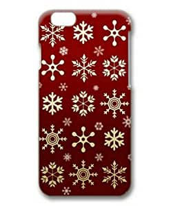 iphone 4 4s Case, Golden Snowflakes Red Background Case for iphone 4 4s 3D PC Material