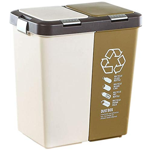 LLWWY All Touch Top Bin/Dustbin/Rubbish bin/Kitchen/Home/Plastic-40L
