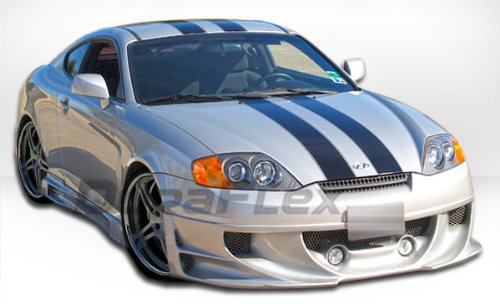 2005-2006 Hyundai Tiburon Duraflex Racer Body Kit - 4 Piece - Includes Racer Front Lip Under Spoiler Air Dam (106053) Racer Side Skirts Rocker Panels (106054) Racer Rear Lip Under Spoiler Air Dam (10055)