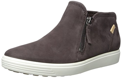 ECCO Women's Women's Soft 7 Low Cut Zip Fashion Sneaker, Shale/Powder, 39 EU / 8-8.5 US
