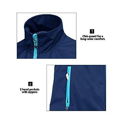 Little Donkey Andy Women's Lightweight Softshell Vest, Windproof Sleeveless Jacket for Running Hiking Travel: Clothing
