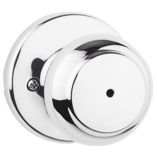 Kwikset 300CV 26 6AL RCS Cove Bed/Bath Knob, Polished - Pulls Nickel Bronze Colonial