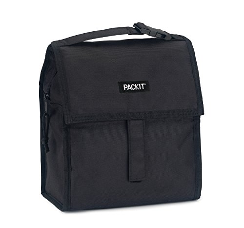 PackIt Freezable Lunch Bag with Zip Closure, Black by PackIt (Image #4)
