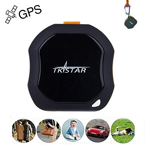 Personal GPS Tracker, Mini Portable GPS Tracker Tracking Device, Real Time Vehicle GPS Tracker, Waterproof & SOS Emergency for Kids Adults Elderly Pet Car Vehicle Bike Assets - TK1000