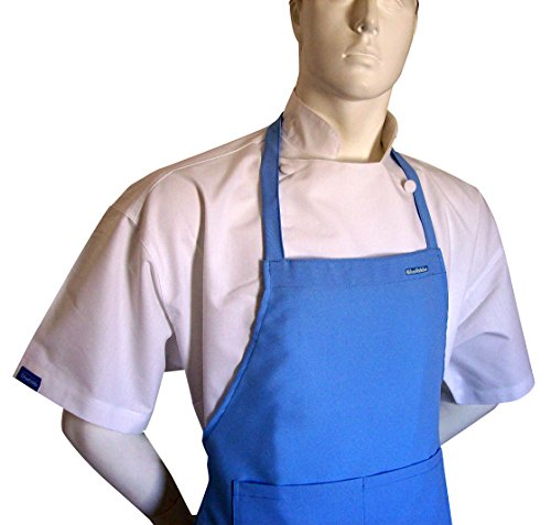 Blue Chocolate Apron (Baby Blue Medium Chefskin Lot of 5 Chef Aprons Real Fabric Pocket Lightweight)