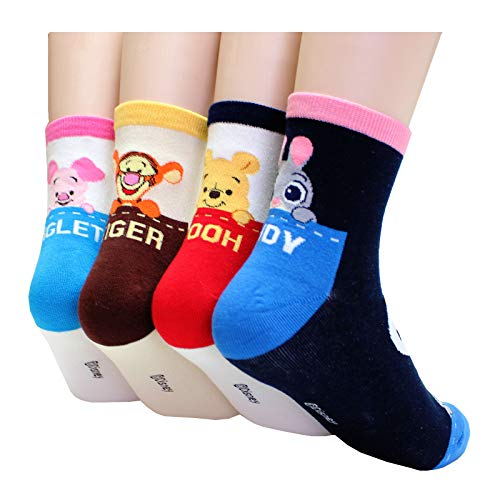 EVEI Cartoon Movies Character Women's Original Socks (D34_4pairs)