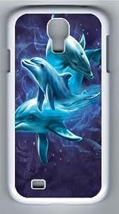 Samsung Galaxy I9500 Case,Dolphin Collage PC case Cover for Samsung Galaxy S4 and Samsung Galaxy I9500 ¡§C White