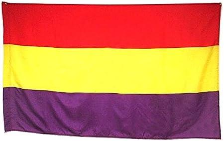 BANDERA REPUBLICA ESPAÑOLA REPUBLICANA GRANDE 150 Cm 1,5 Metros: Amazon.es: Hogar