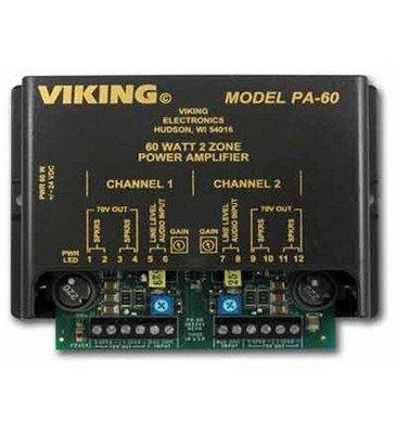 Viking Electronics PA-60 60w Compact Two Zone (Viking Electronics Amplifier)