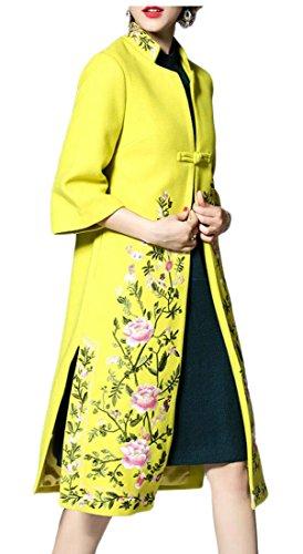 Floral Wool Coat - 6
