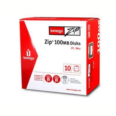 Iomega 10PK Zip 100MB Sleeve PC/MAC (32605) by Iomega