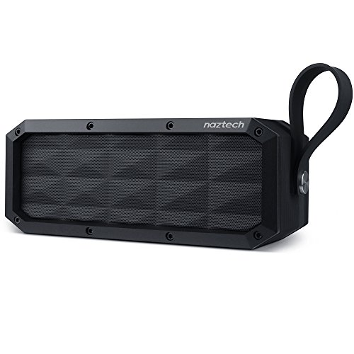 Naztech SoundBrick Portable IPX6 Waterproof, Outdoor, Indoor Wireless Bluetooth Speaker, Built in Microphone and Speakerphone, Loud Stereo Sound, Rich Bass, Up to 16hrs Playtime for Bluetooth Devices
