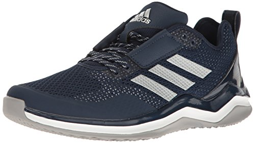 adidas Performance Men's Speed Trainer 3.0, Collegiate Navy/Metallic Silver/White, 11 M US (Mid Softball Shoe)