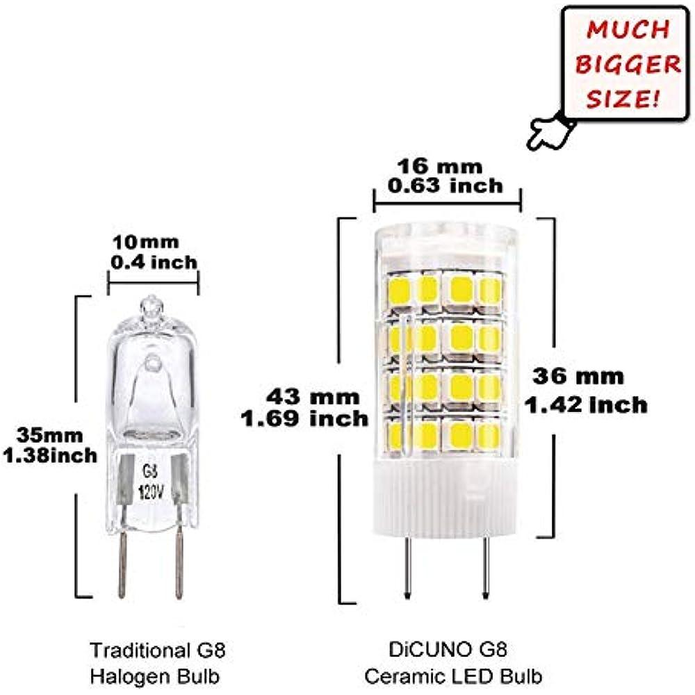 Led G8 Light Bulb 4w Dimmable 120v Daylight 6000k T4 Bi Pin Base Xenon Jcd G8 Ebay