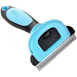 Maoko Pet Grooming Tools Supplies & Deshedding Brush Rake Massage Comb For Small, Medium & Large Dogs & Cats