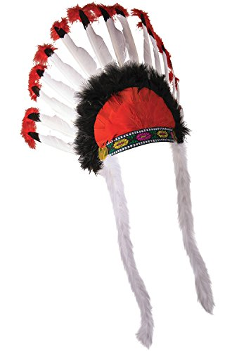 [Native American Indian Chief Feather Headdress] (Male Indian Chief Costume)