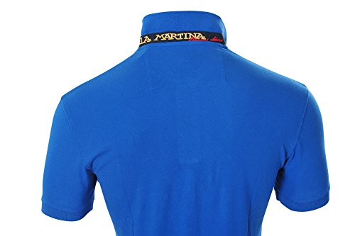La Martina Polo Poloshirt Herren Blau Slim Fit Baumwolle Casual S